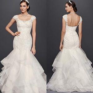 NWT Oleg Cassini Organza Mermaid Wedding Dress